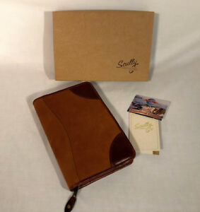 Scully Nubuck Leather 6 X 9 Monthly Weekly Daily Planner Organizer Never Used