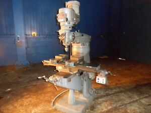 Bridgeport Series 1 Vertical Metal Milling Machine 9 X 42 Table Power Feed