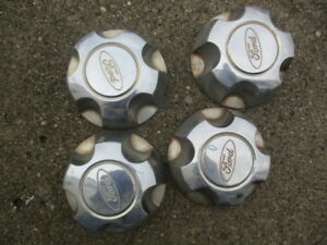 1994 2004 Ford Explorer Center Caps Yl24 1a096 Db Set Of 4 Plastic Used 99 98
