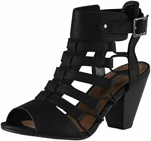 City Classified Women s Casual Styl Awesome Gladiator Strappy Chunky Block He