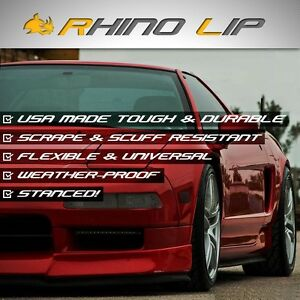Universal Ground Effects Lowering Front Chin Lip Splitter Super Fast Exotic Cars