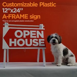 12 x24 Open House A frame Sign Not Corrugate Plastic Construction