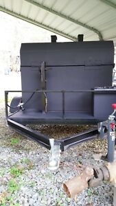 Smoker Grill On Trailer
