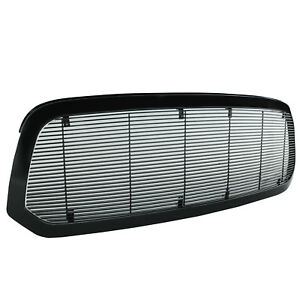 2013 2018 Dodge Ram 1500 Grille Black Painted Replacement Aluminum With Shell