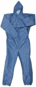 24 Kimberly clark Kleenguard A60 Protective Hooded Coveralls Medium Blue 45022