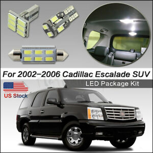 16pcs White Led Interior Lights For 2002 2006 Cadillac Escalade Suv Package Kit
