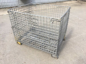 32 X 40 X 28 Collapsible Steel Wire Parts Baskets Made In The Usa