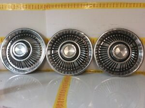 Vintage 1964 64 Pontiac Bonneville Catalina 3 Lot 14 Hubcaps Wheel Covers Oem