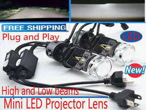 Mini H4 Led Projector Lens Headlight Kit High Low Light Bulb Lamp 6000k Vs Xenon