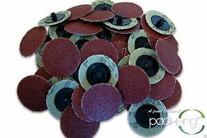 50 Pc 2 Inch Roloc Discs 80 Grit R Type Sanding Roll Lock Rogue River Tools