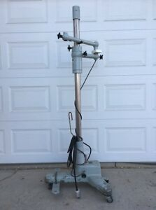 Zeiss Opmi Surgical Rolling Microscope Floor Stand Industrial Reclaimed Parts
