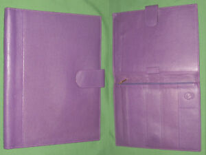 8 5x11 Note Pad Purple Full Grain Leather Levenger Planner Binder Monarch