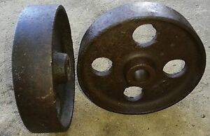 6 Cast Wheels Hit Miss Gas Engine Steam Industrial Cart nice 2 Wheels