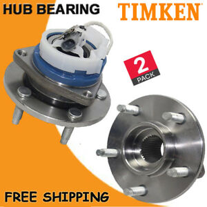 Timken 2x Front Wheel Hub Bearing Assembly Stud Abs Replacement Chevy Gmc Buick