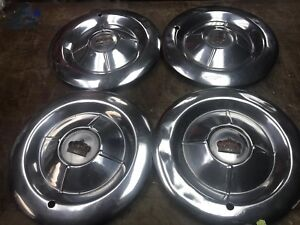 50 s Vintage Chrysler Imperial Genuine 15 Hubcaps Set Of 4