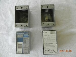 Lot Of 4 New Outdoor Waterproof Single Gang Outlet Boxes With 1 2 I p s Holes