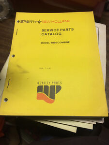 Oem New Holland Tr96 Combine Service Parts Catalog 1985 Issue