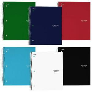 Five Star Wirebound Notebook 3 subject 150 College Ruled Sheets Assorted Pack