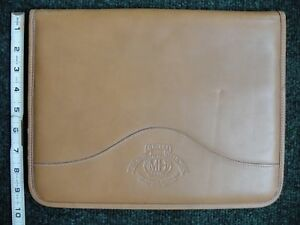 Ghurka Marley Hodgson Document Portfolio French Tan Leather Tablet Address Case