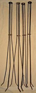4 Antique 36 Lightning Rod Stands For 5 8 Rod