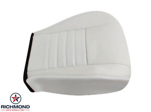 2001 2002 Ford Mustang Gt Convertible V8 driver Bottom Leather Seat Cover White
