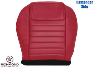 2005 2009 Ford Mustang passenger Side Bottom Replacement Leather Seat Cover Red