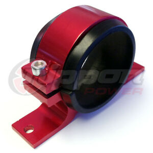 Fuel Pump Mounting Bracket Single Filter Clamp Cradle Bosch 044 Red