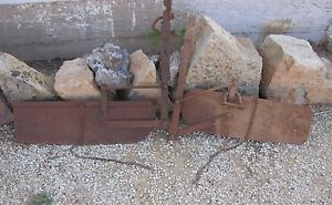 Cultivator Shields Vintage Antique Set Of 2 Pair Rustic Use Or Repurpose Decor