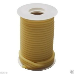 50 Continuous Feet 5 16 I d X 1 16 W X 7 16 O d Natural Latex Rubber Tubing