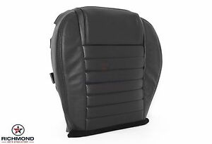 2005 2009 Ford Mustang Shelby Gt500 Gt H Driver Bottom Leather Seat Cover Black