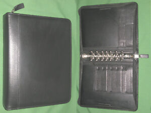 Classic 1 5 Black Top Grain Leather Franklin Covey Quest Planner Binder 4192