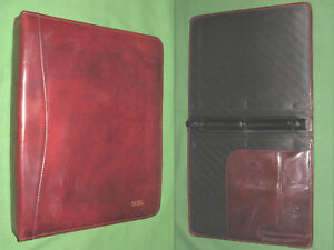 8 5x11 1 0 Caramel Leather Scully Planner Binder Franklin Covey Monarch 9476