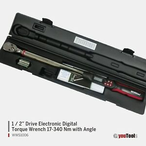 Worktec Pro 1 2 Drive Electronic Digital Torque Wrench 17 340 Nm With Angle