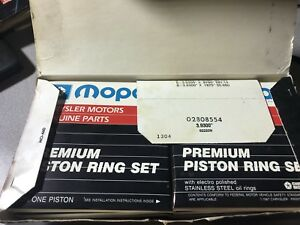 Nos Mopar 2808554 Premium Piston Rings For 318