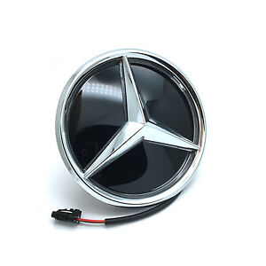 Colorful Led Light Front Grille Mirror Star Emblem For 2011 2017 Mercedes Benz