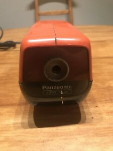 Vintage Panasonic Kp 88a Orange Electric Pencil Sharpener Made In Japan