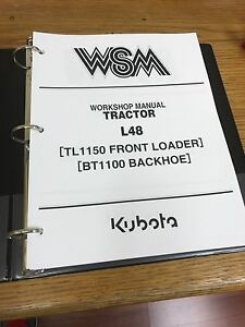 Kubota L48 Tractor Loader Backhoe Workshop Service Repair Manual Binder
