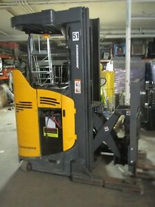 Jungheinrich Etr 130 Stand up Electric Reach Forklift W only 4400 Hours Exc