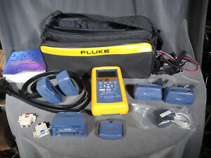 Fluke Dsp 4300 Cat6 Mm Fiber Gigabit Cable Tester W Bag Accessories Dsp4300