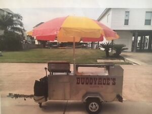 2012 Willy Dog Hot Dog Cart Trailer With Umbrella Model 1956