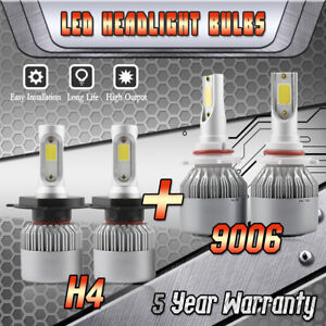 9003 H4 Led Headlight 9006 Fog Bulb For Toyota Tundra 2000 2006 Rav4 2001 2005