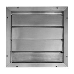 Broan Automatic Gable Attic Vent Mount Louvered Shutter Aluminum Roof Fan new
