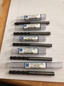 Osg 5 16 Dia Carbide Ball Nose End Mill 1 5 8 Loc Tiain Coated Lot Of 5