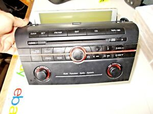 2004 2009 Mazda 3 Radio Stereo 6 Disc Changer Cd Player Bn8k 66 9r0 Free Shippin