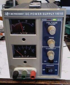 Bk Precision 1610 Adjustable Dc Power Supply With Instruction Manual