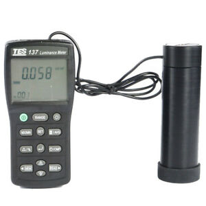 Tes 137 Luminance Meter Dual Display 4 digit Lcd new