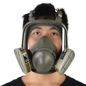 Full Face Respirator Cover Facepiece Gas Mask F Painting Welding Disinfection