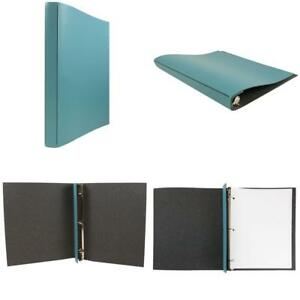 Jam Paper Italian Leather 3 Ring Binder 3 4 Width Turquoise Sold Individually