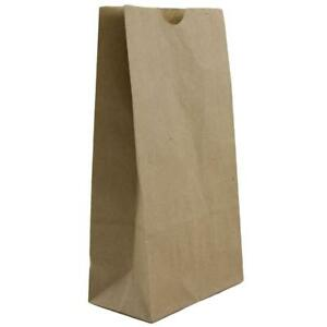 Jam Paper Lunch Bags Small 4 1 8 X 8 X 2 1 4 Brown Kraft 100 Recycled