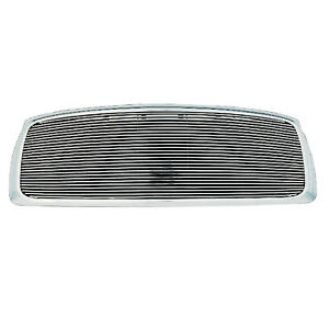 2002 2005 Dodge Ram 1500 Billet Grille With Abs Shell Chrome Front Upper Grill